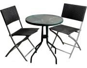Набор стол и 2 стула для террасы