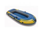 Надувная лодка Intex двухместная Challenger-2 (Set), 236х114х41 см
