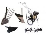 SET TECHNOWORKER 1051 DE // C большими резиновыми колесами + одинарный плуг + картофельный плуг + рарита + фрезер