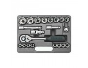 Ключи и насадки торцевые набор 1/2 CrV, 21 шт. Topex