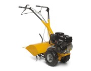 Бензиновый культиватор STIGA SILEX 103 B, рабочей шириной 60 см, рабочей глубиной 22 см, шестью металлическими роторами и двумя задними колесами