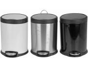Ведро для мусора с педалью 5l, H25cm, D19cm, 3цвета