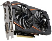 Gigabyte GV-N1060WF2OC-6GD 1.0 (GeForce GTX 1060 6G DDR5 ) GF GTX1060,6GB DDR5, 192 bit,Engine 1847/1620MHz, Memory 8008 Mhz,,Active Cooling,DVI-D*1,DisplayPort 1.4*3,HDMI 2.0b,*1,H=40 L=278 W=114 mm power, 8 pin*1