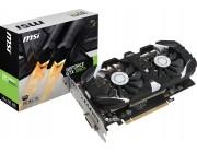 MSI GeForce GTX 1050Ti 4GT OC /  4GB DDR5 128Bit 1455/7008Mhz, DVI, HDMI, DisplayPort, Dual fan, Military Class 4 (MIL-STD-810G), Gaming App, Retail