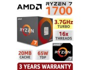 AMD Ryzen 7 1700 (8C/16T), Socket AM4, 3.0-3.7GHz, 16MB L3, 14nm 65W, BOX (with Wraith Spire 95W Cooler)