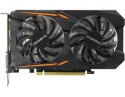 Gigabyte GV-N105TOC-4GD 1.1 (GeForce GTX 1050Ti 4G DDR5 ) GF GTX1050Ti,4GB DDR5, 128 bit,Engine 1341/1455MHz, Memory 7008 Mhz,,Active Cooling,DVI-D*1,DisplayPort 1.4*1,HDMI 2.0b,*1,H=36 L=191 W=111 mm