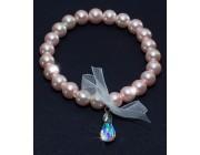 Браслет «Жемчужная шамбола с кристаллами SWAROVSKI»