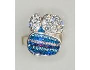 Кольцо «Голубая капля»