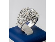 Кольцо «Блестящие пояски»