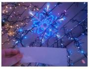 "Световая фигура ""Снежинка"" 60cm 180LED, бел/синий цвет"