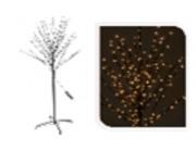 Дерево декоративное150cm, 200 miniLED, т-бел, с таймер