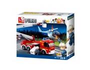 Конструктор Platform Fire Truck + Fire Helicopter 403pcs Конструктор Platform Fire Truck + Fire Helicopter 403pcs