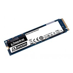 M.2 NVMe SSD 500GB Kingston A2000, Interface: PCIe3.0 x4 / NVMe1.3, M2 Type 2280 form factor, Sequential Reads 2200 MB/s, Sequential Writes 2000 MB/s, Max Random 4k Read 180,000 / Write 200,000 IOPS, SM2263EN controller, 96-layer 3D NAND TLC