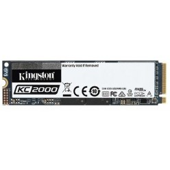 M.2 NVME SSD 500GB KINGSTON KC2000, INTERFACE: PCIE3.0 X4 / NVME1.3, M2 TYPE 2280 FORM FACTOR, SEQUENTIAL READS 3000 MB/S, SEQUENTIAL WRITES 2000 MB/S, MAX RANDOM 4K READ 350,000 / WRITE 250,000 IOPS, SMI 2262EN CONTROLLER, 96-LAYER 3D NAND TLC