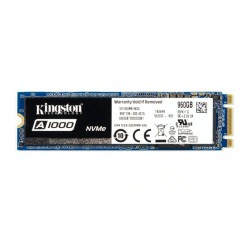 M.2 NVME SSD 960GB KINGSTON A1000, INTERFACE: PCIE3.0 X2 / NVME1.2, M2 TYPE 2280 FORM FACTOR, SEQUENTIAL READS 1500 MB/S, SEQUENTIAL WRITES 1000 MB/S, MAX RANDOM 4K READ 120,000 / WRITE 100,000 IOPS, PHISON E8 CONTROLLER, NAND 3D TLC
