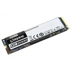 M.2 NVME SSD 1000GB KINGSTON KC2000, INTERFACE: PCIE3.0 X4 / NVME1.3, M2 TYPE 2280 FORM FACTOR, SEQUENTIAL READS 3200 MB/S, SEQUENTIAL WRITES 2200 MB/S, MAX RANDOM 4K READ 350,000 / WRITE 275,000 IOPS, SMI 2262EN CONTROLLER, 96-LAYER 3D NAND TLC