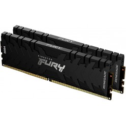32GB (Kit of 2*16GB) DDR4-3466 Kingston HyperX® FURY DDR4 RGB, PC27700, CL16, 1.2V, Auto-overclocking, Asymmetric BLACK heat spreader, Dynamic RGB effects featuring HyperX Infrared Sync technology, Intel XMP Ready (Extreme Memory Profiles)