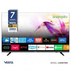 Smart TV VESTA LD43E7005 4K // UHD HDR DVB-T/T2/C CI+ AndroidTV 9.0